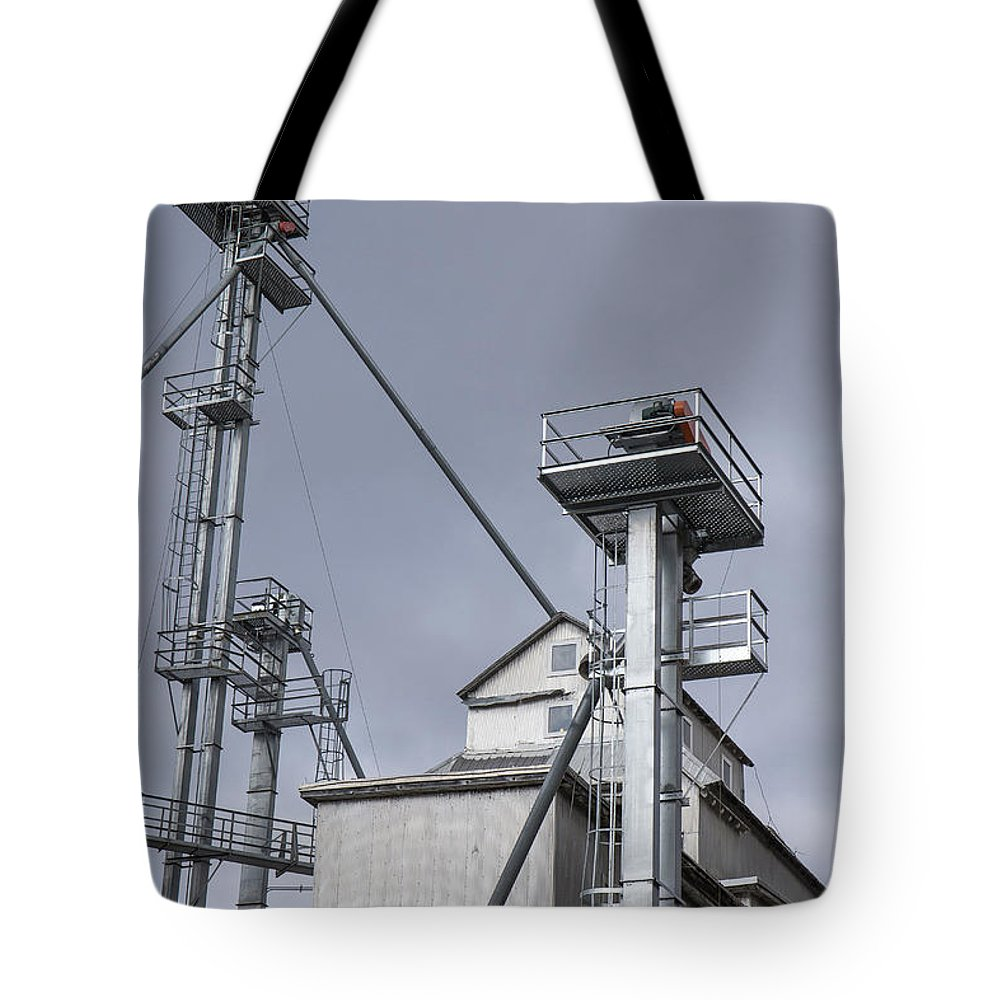 Vermont Tote Bag featuring the photograph Grain And Feed Silos Bethel Vermont by Edward Fielding