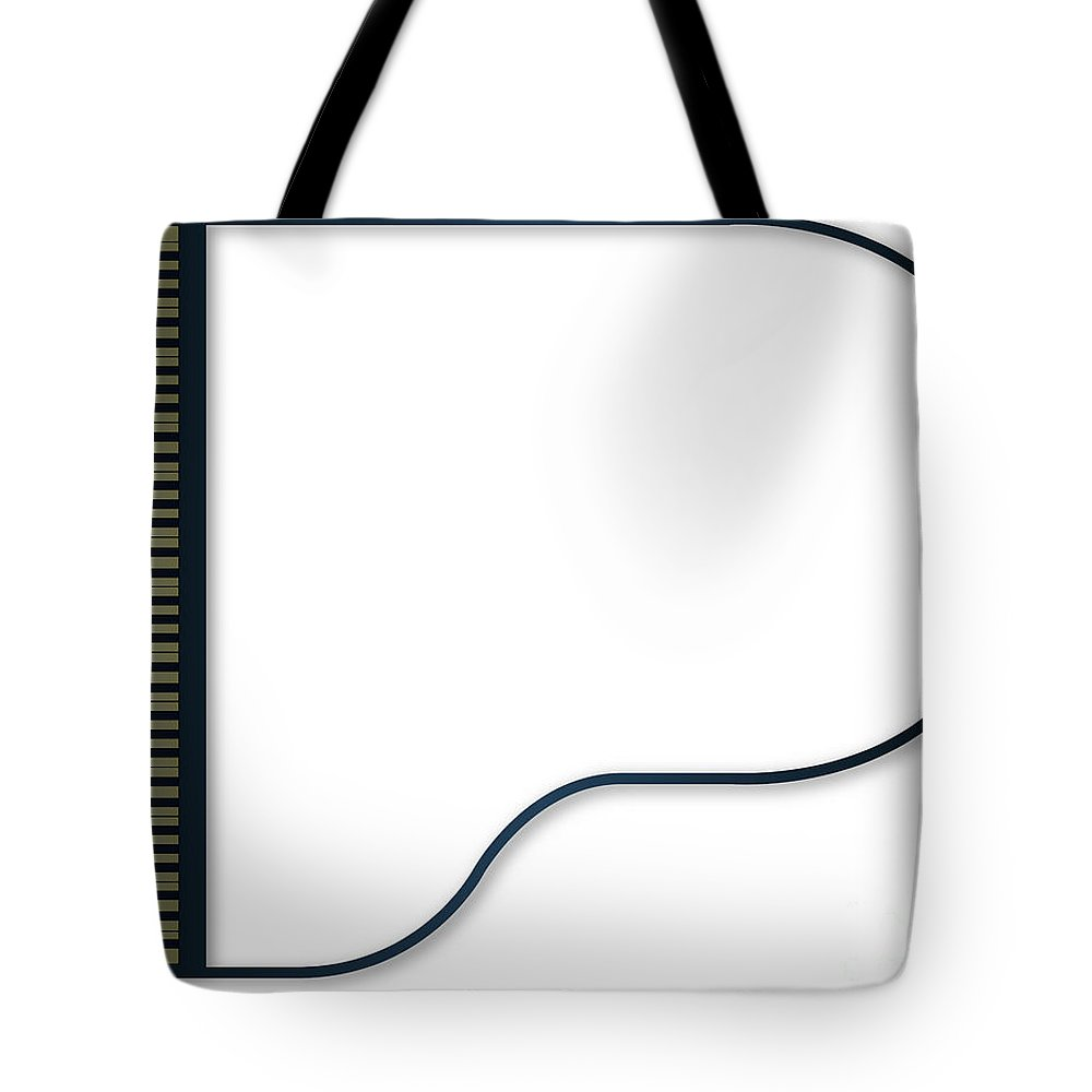 Grand Tote Bag featuring the digital art Grand Piano Copy Space by Bigalbaloo Stock