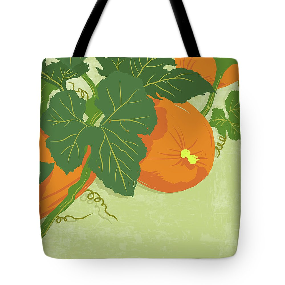 Part Of A Series Tote Bag featuring the digital art Graphic Illustration Of Pumpkins by Don Bishop