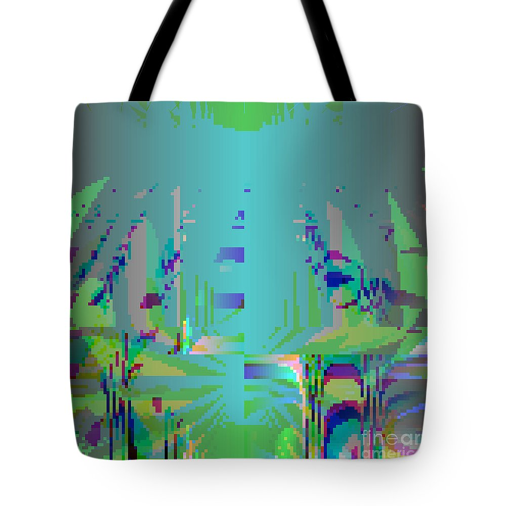Abstract Tote Bag featuring the digital art Grass by Hannah Patel