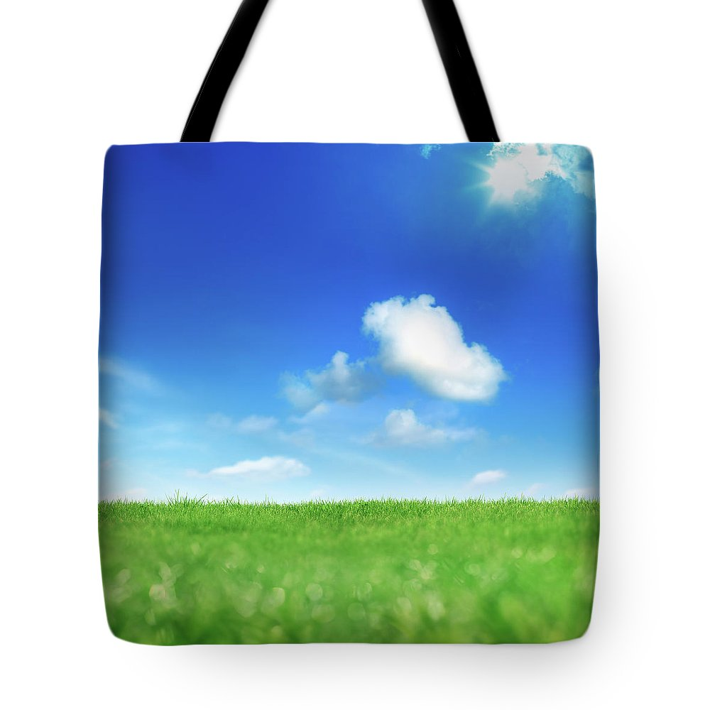 Scenics Tote Bag featuring the photograph Green And Blue by Imagedepotpro
