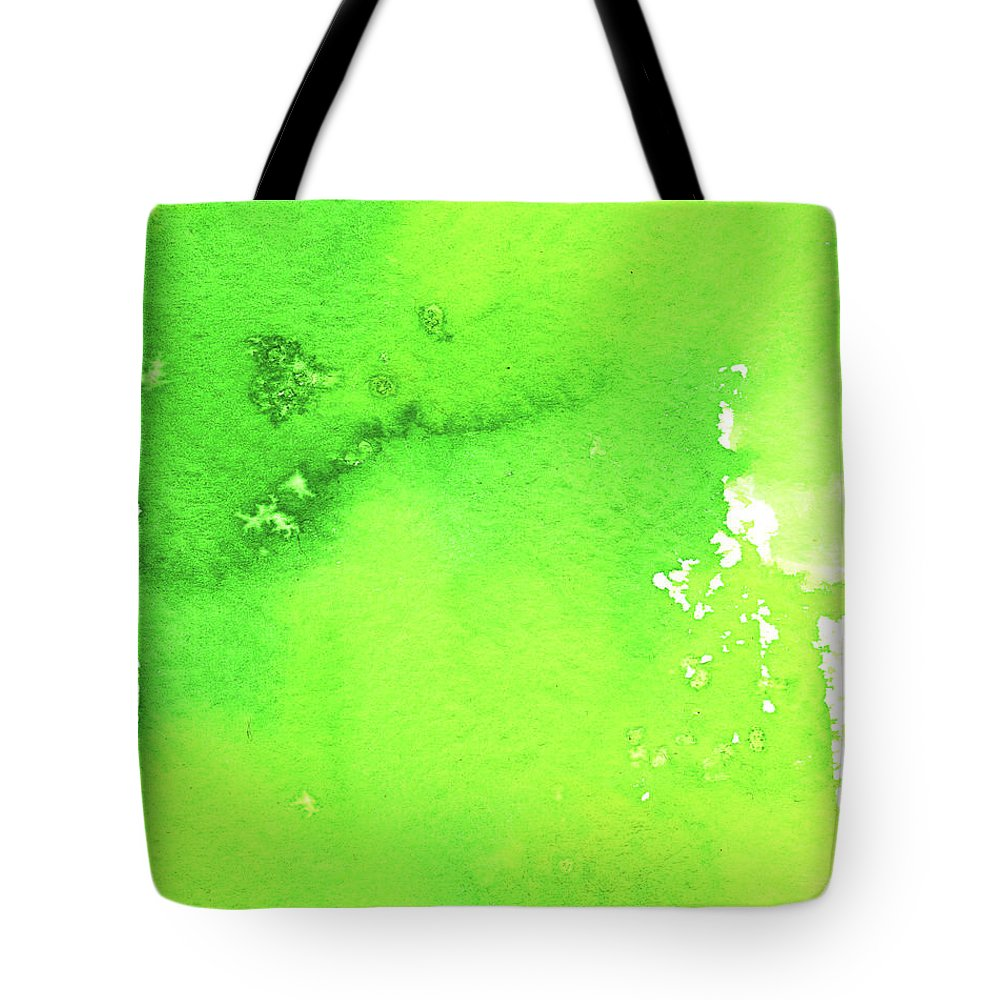 Watercolor Painting Tote Bag featuring the digital art Green Background Spring Blend by Taice