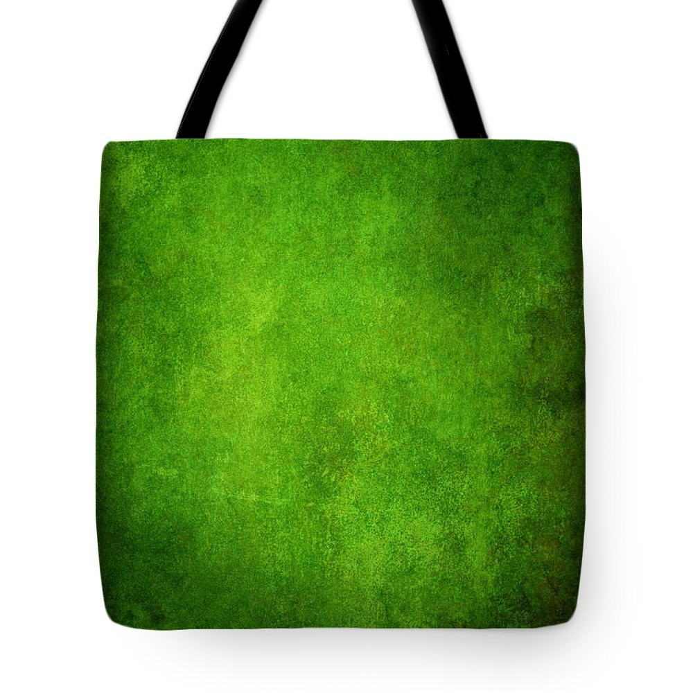 Stained Tote Bag featuring the photograph Green Grunge Background by Mammuth