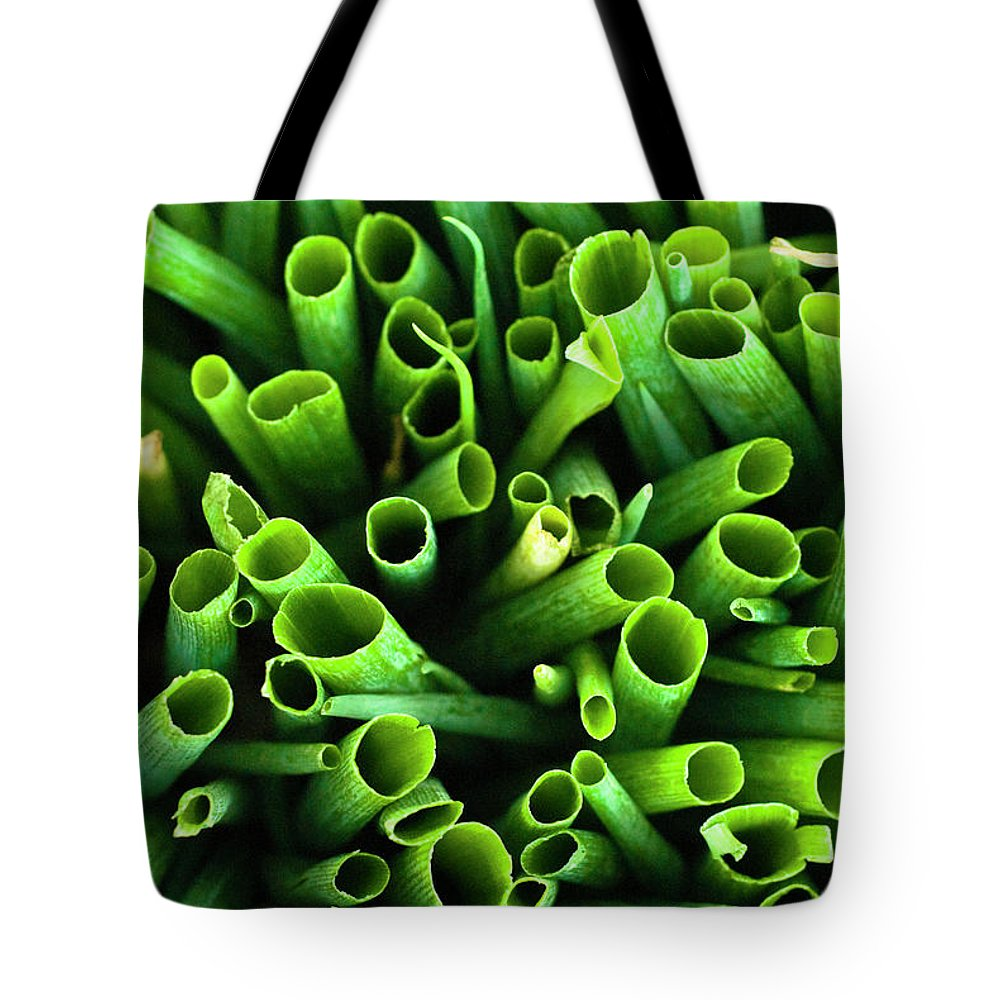 Large Group Of Objects Tote Bag featuring the photograph Green Onions by By Ken Ilio