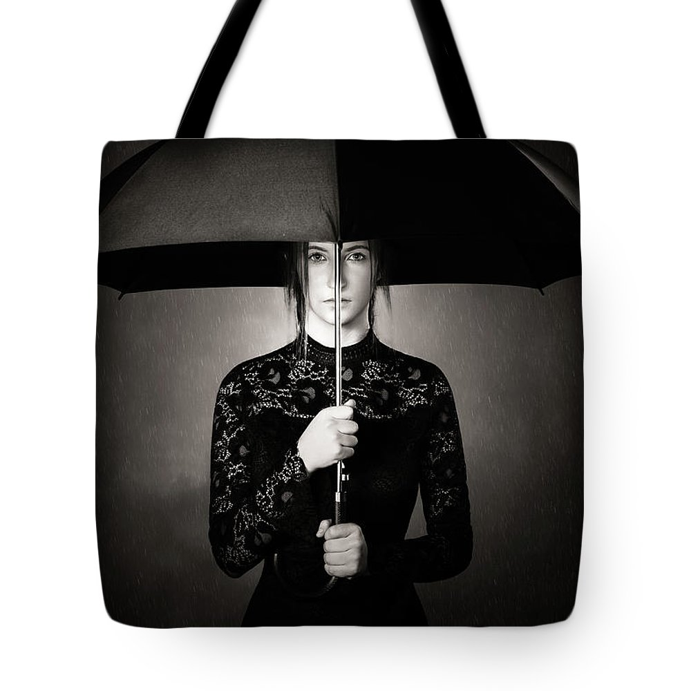 Woman Tote Bag featuring the photograph Grieving by Johan Swanepoel