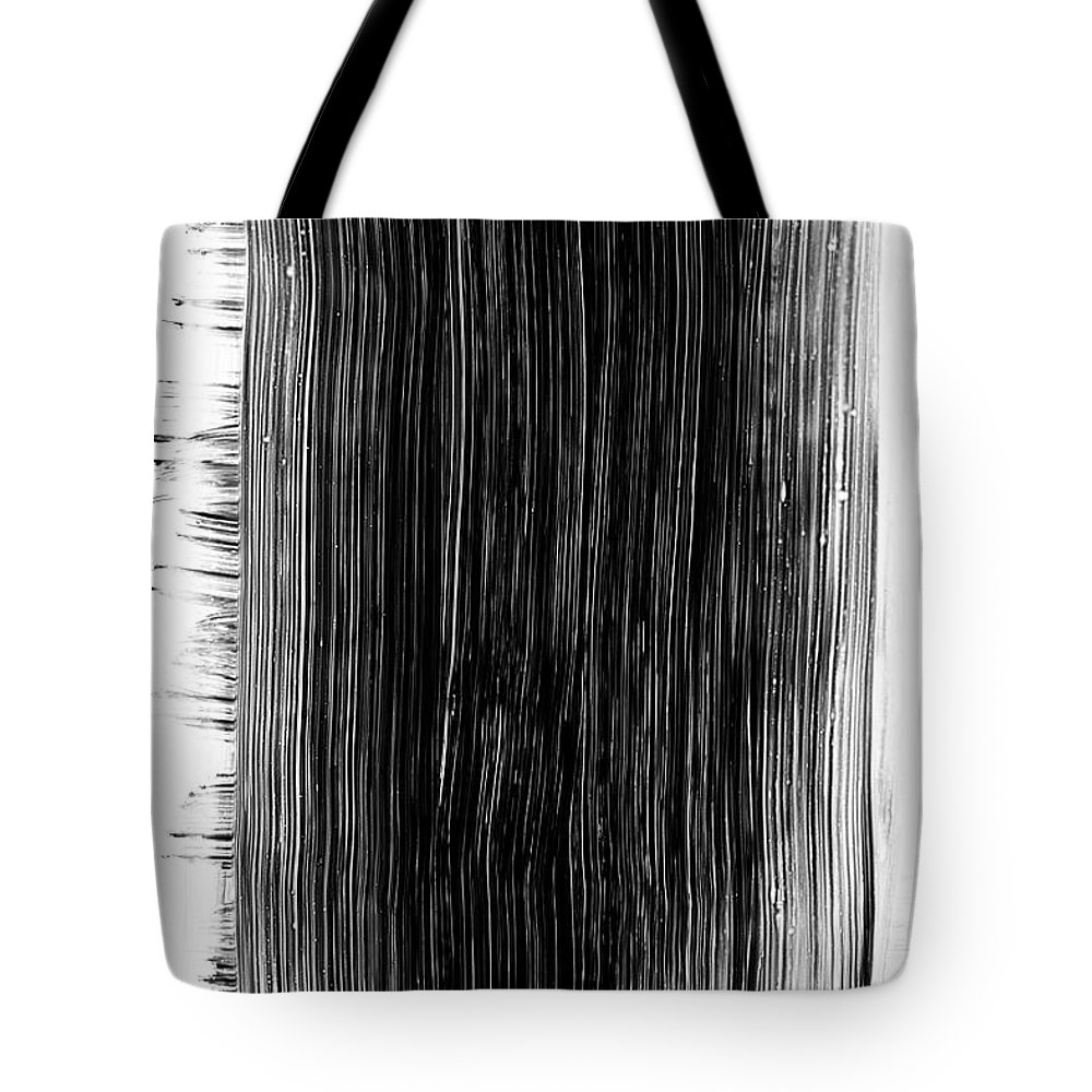 Art Tote Bag featuring the photograph Grunge Black Paint Brush Stroke by 77studio