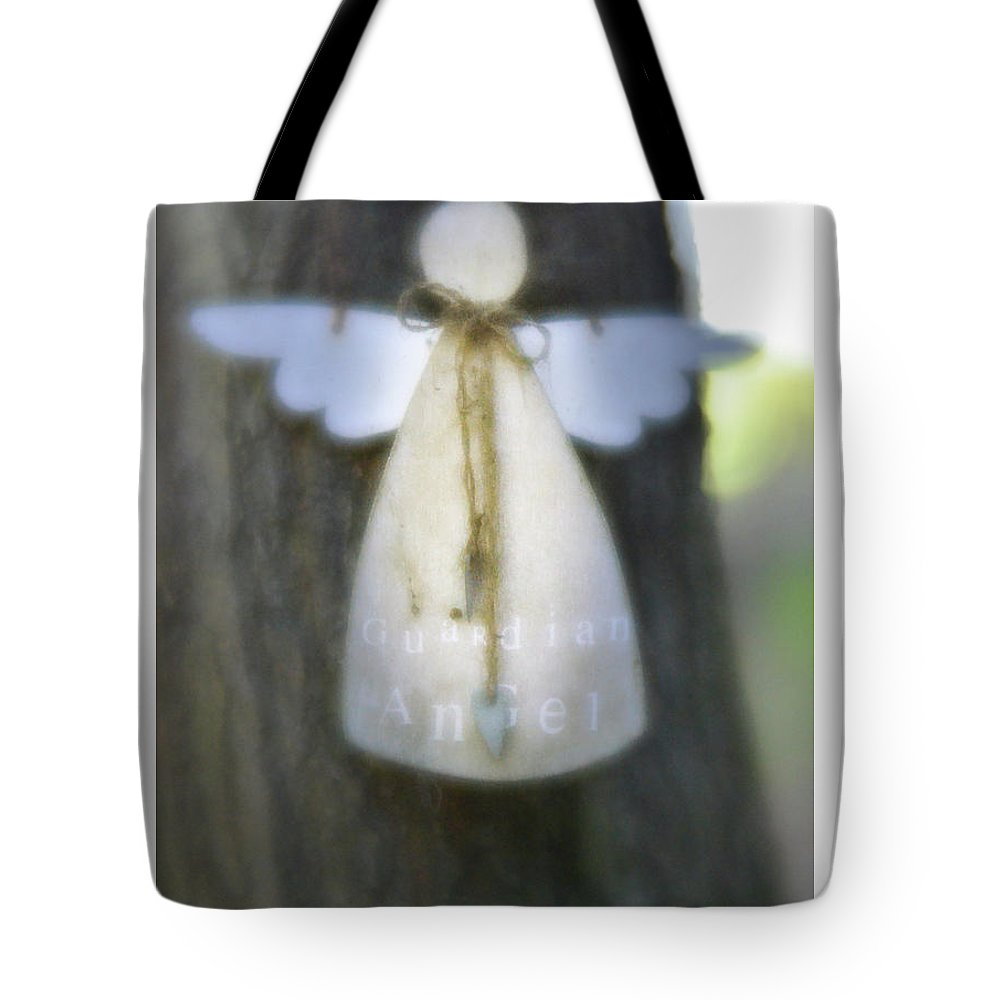 Angel Tote Bag featuring the photograph Guardian Angel by Elaine MacKenzie