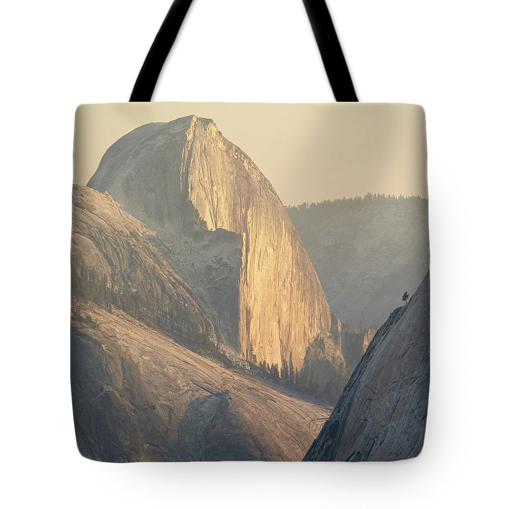 Scenics Tote Bag featuring the photograph Half Dome At Sunset, Olmsted Point by James Hager / Robertharding
