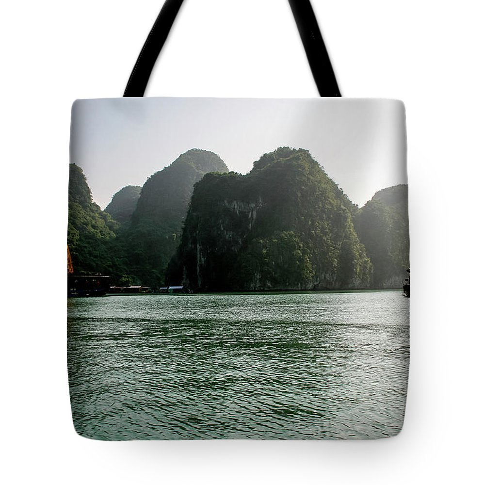 Scenics Tote Bag featuring the photograph Halong Bay by Rafax