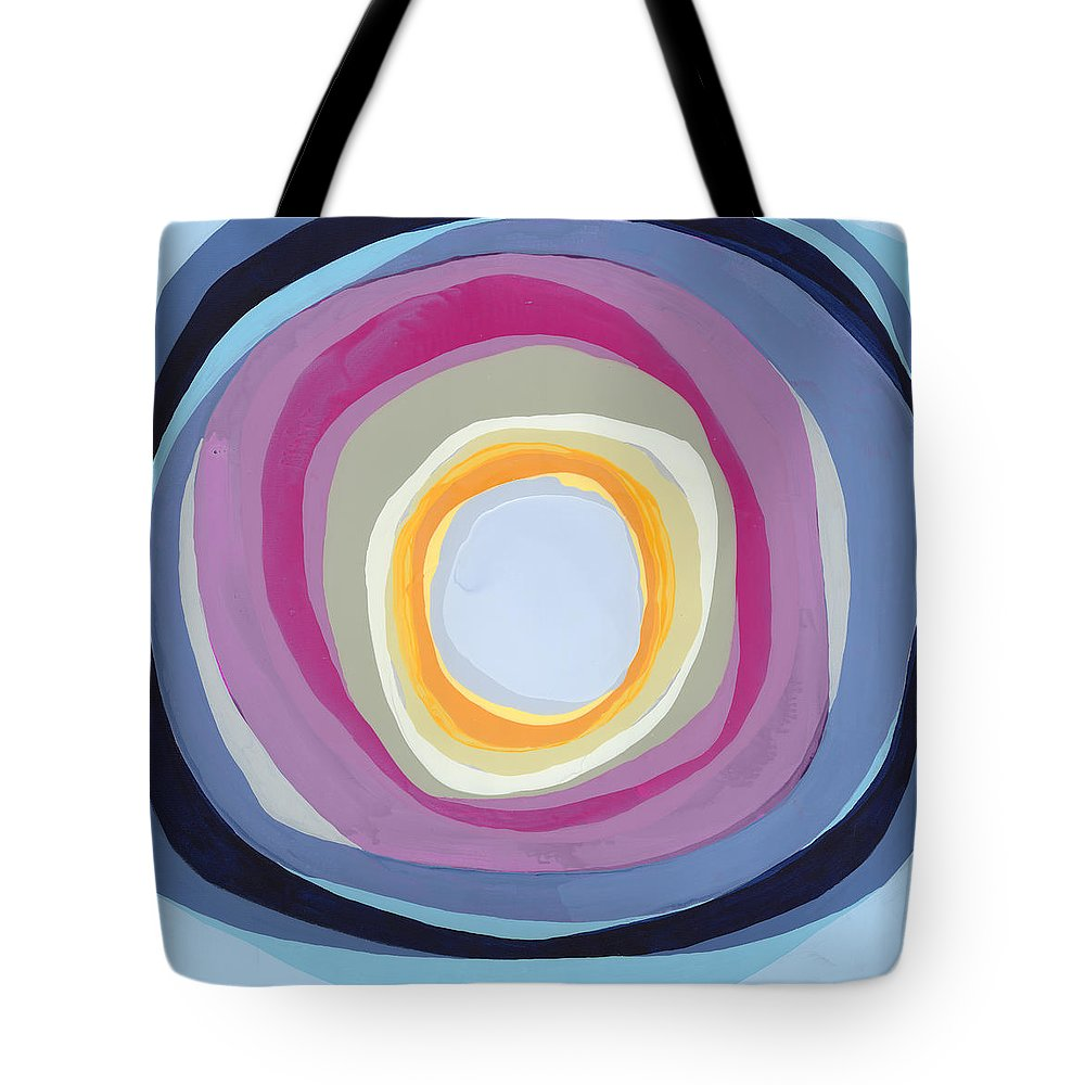 Abstract Tote Bag featuring the painting Hang Cool by Claire Desjardins
