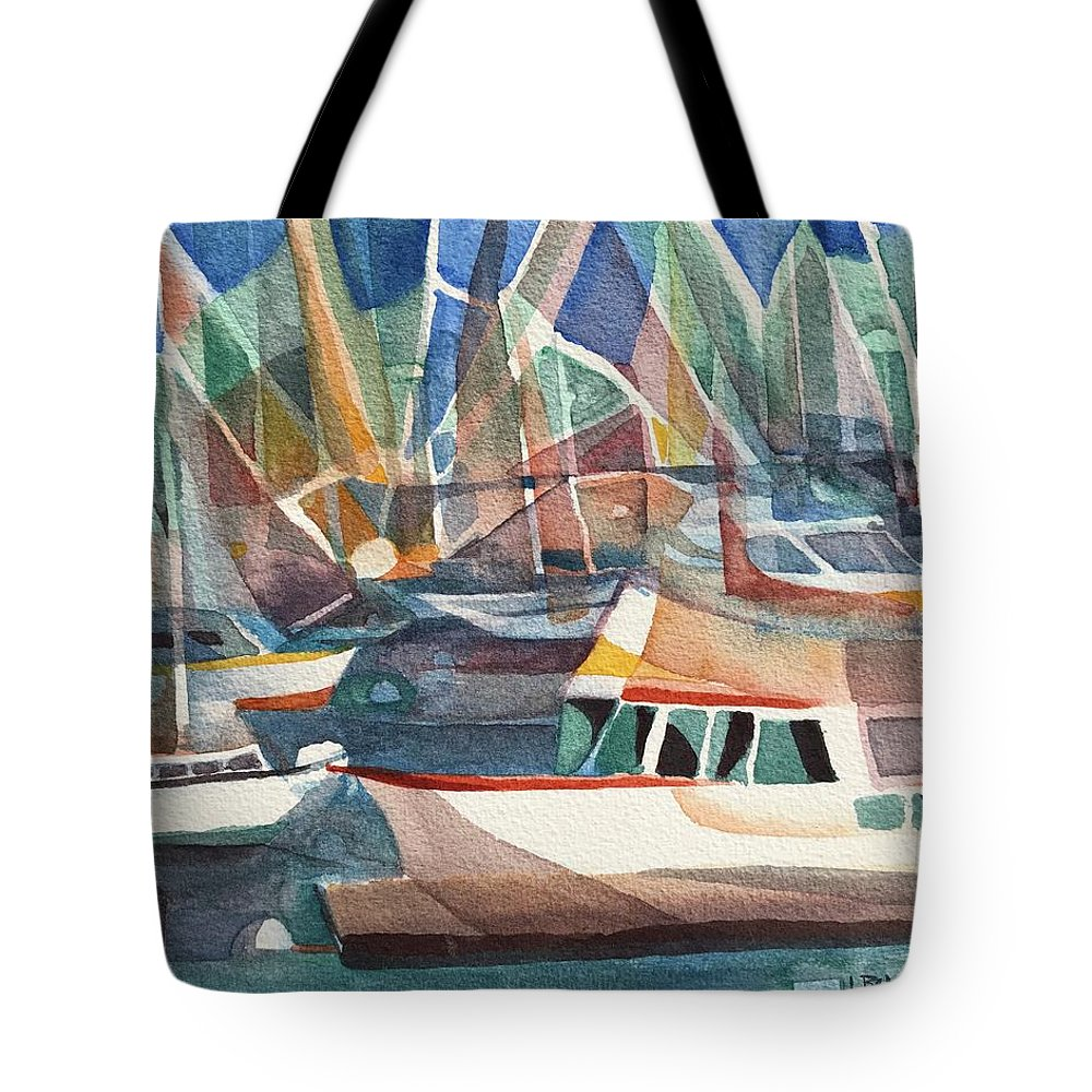 Harbor Island Tote Bag featuring the painting Harbor Island by Lynne Bolwell