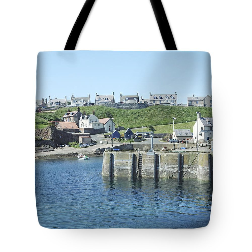 Harbour Tote Bag featuring the photograph harbour at St. Abbs, Berwickshire by Victor Lord Denovan