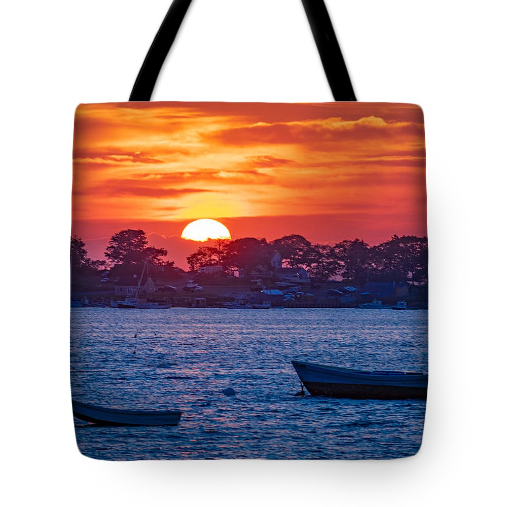 Harpswell Tote Bag featuring the photograph Harpswell Sunset by Richard Plourde