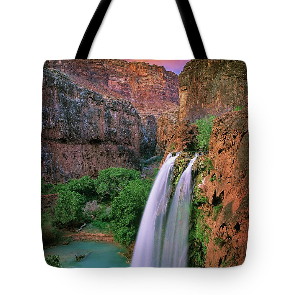America Tote Bag featuring the photograph Havasu Falls by Inge Johnsson