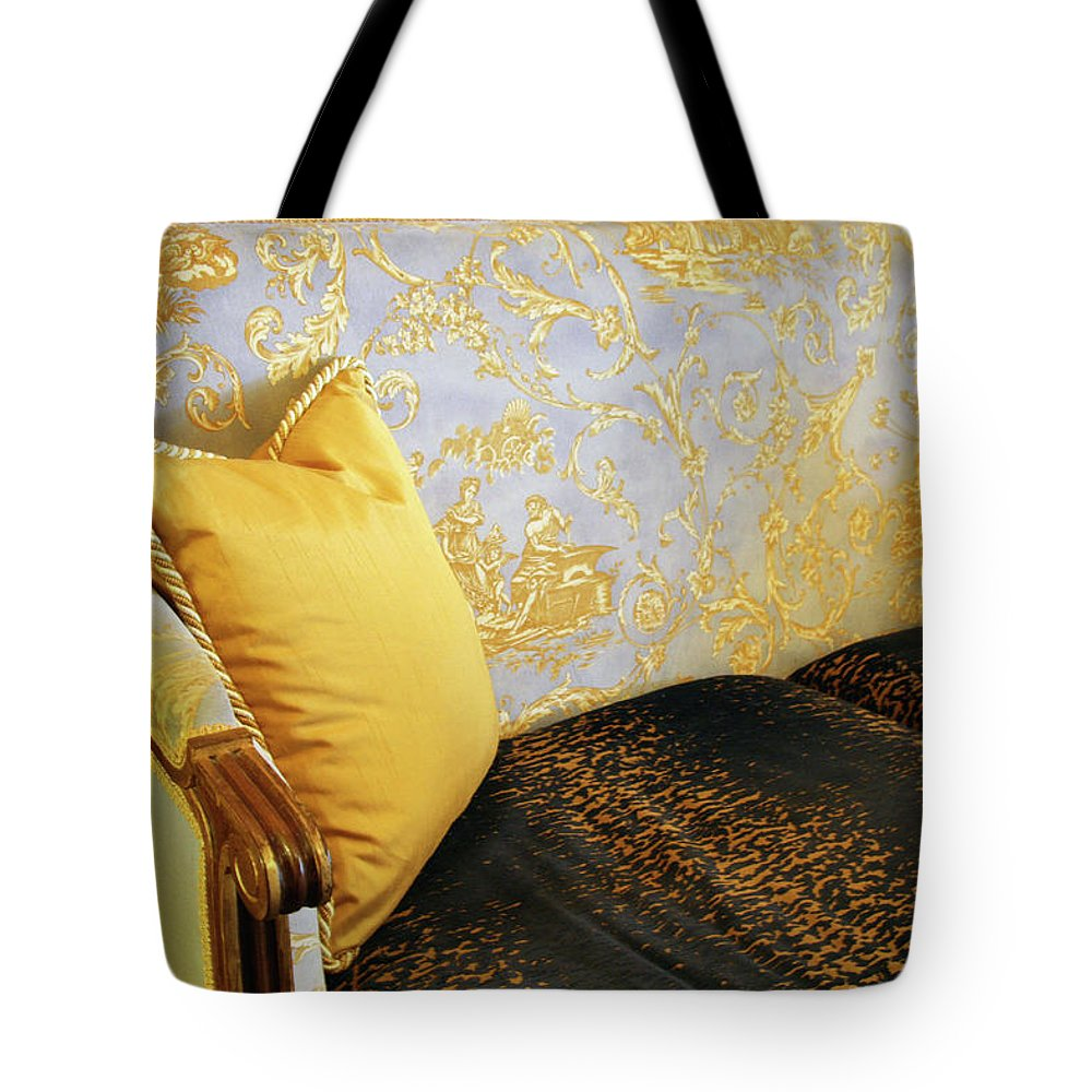 Sofa Tote Bag featuring the photograph Have A Seat by Cora Wandel