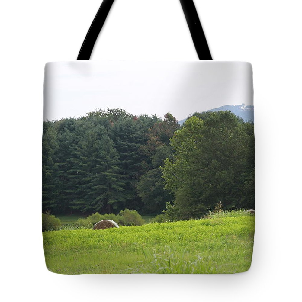 Hay Tote Bag featuring the photograph Hay Rolls 2018b by Cathy Lindsey