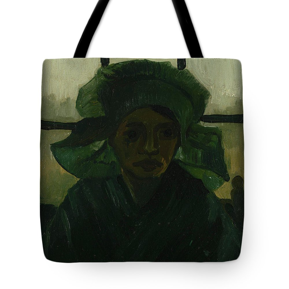 Vincent Van Gogh Tote Bag featuring the painting Head Of A Girl by Vincent Van Gogh