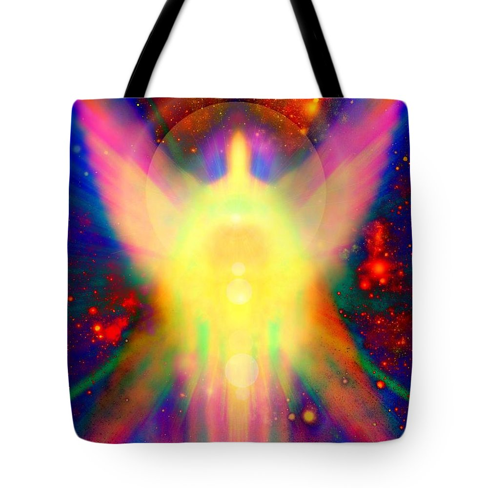 Reiki Tote Bag featuring the painting Healing With Light by Alma Yamazaki