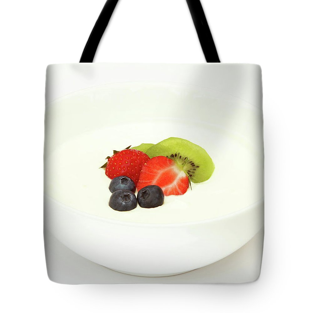 Breakfast Tote Bag featuring the photograph Healthy Breakfast, Snack Or Dessert by Rosemary Calvert