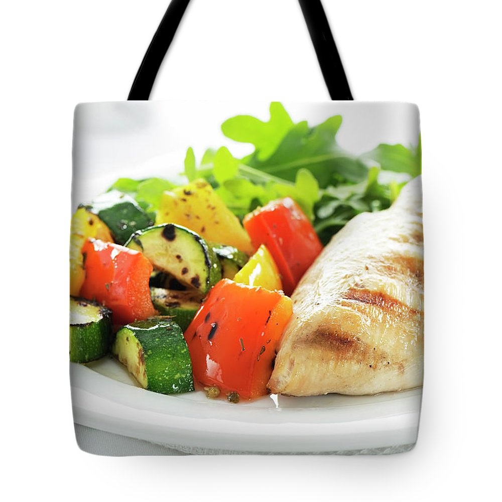 Chicken Meat Tote Bag featuring the photograph Healthy Meal by Easybuy4u