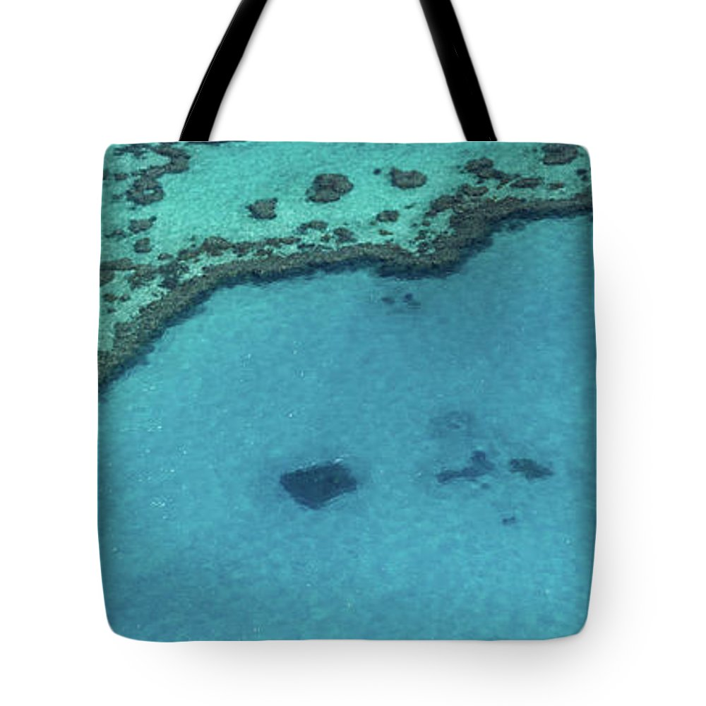 Panoramic Tote Bag featuring the photograph Heart Reef, Great Barrier Reef by Francesco Riccardo Iacomino