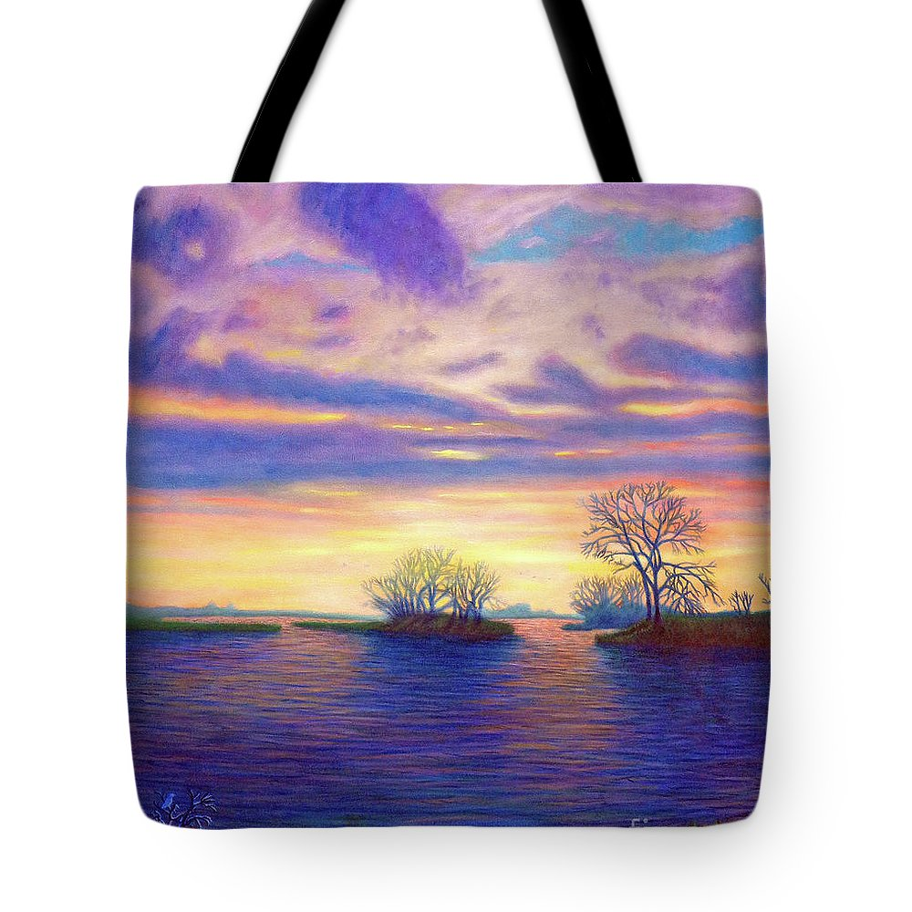 Landscape Tote Bag featuring the painting Hearts And Voices by Brian Commerford