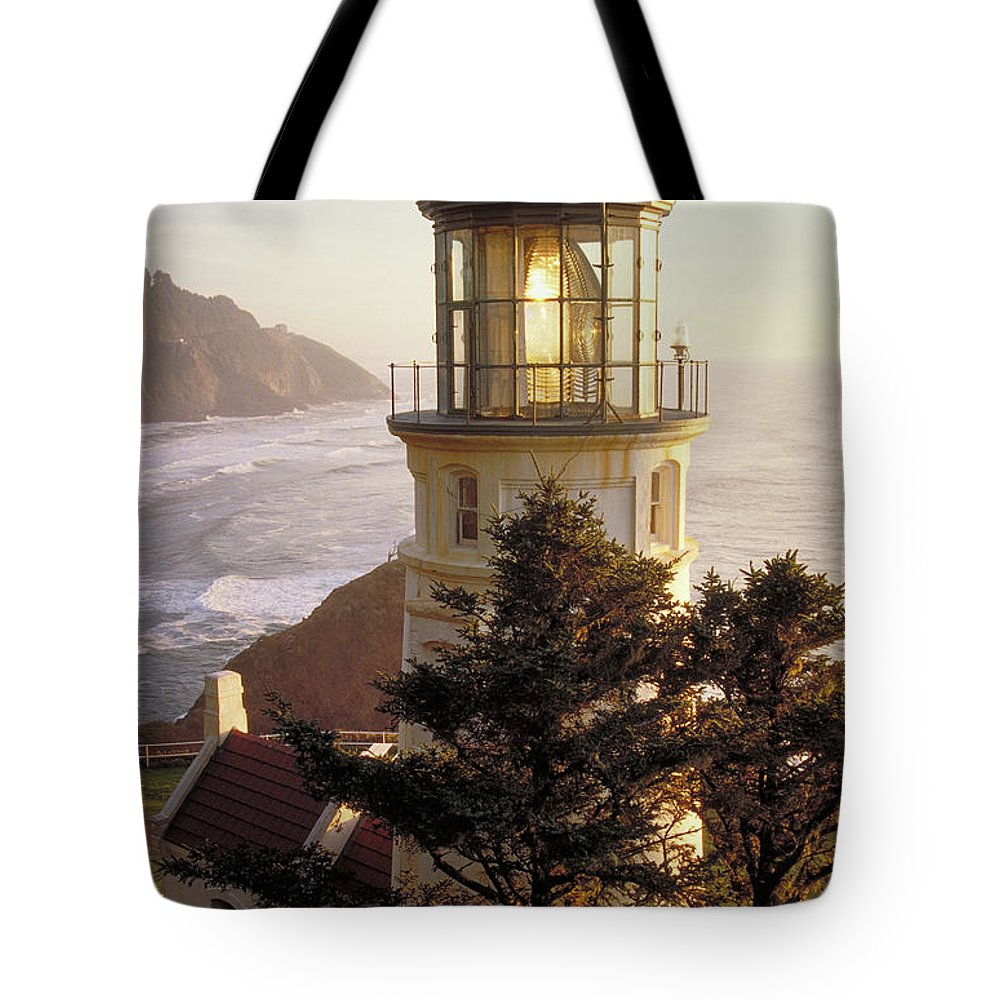 Scenics Tote Bag featuring the photograph Heceta Head Lighthouse by Wbritten