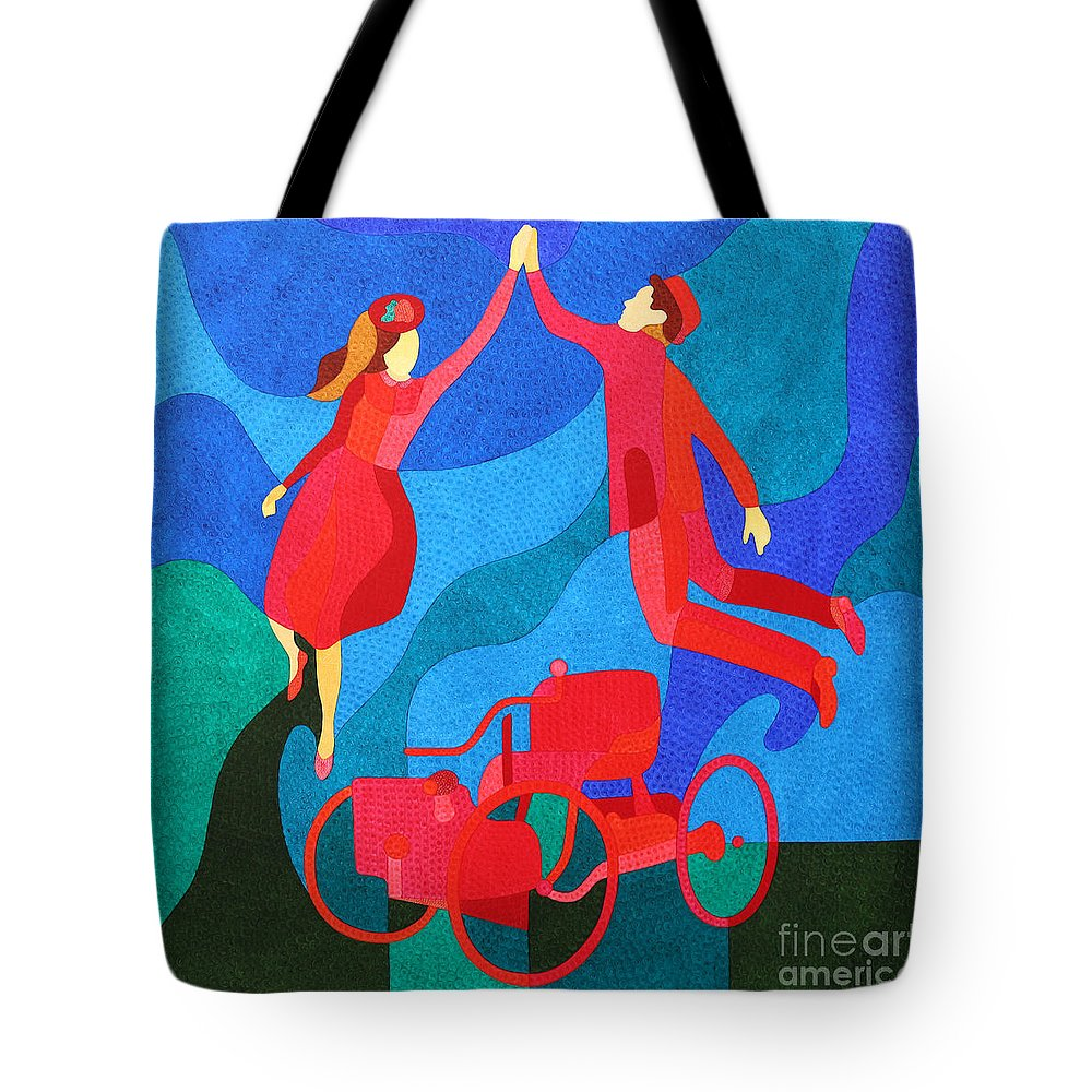 Henryford Tote Bag featuring the painting Henry And Clara Ford by Natalia Lvova