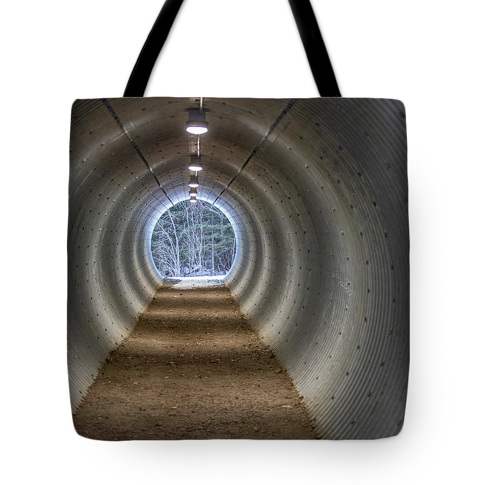 Bitter Tote Bag featuring the photograph Highway Underpass In Pigeon River Provincial Park by Jakub Sisak