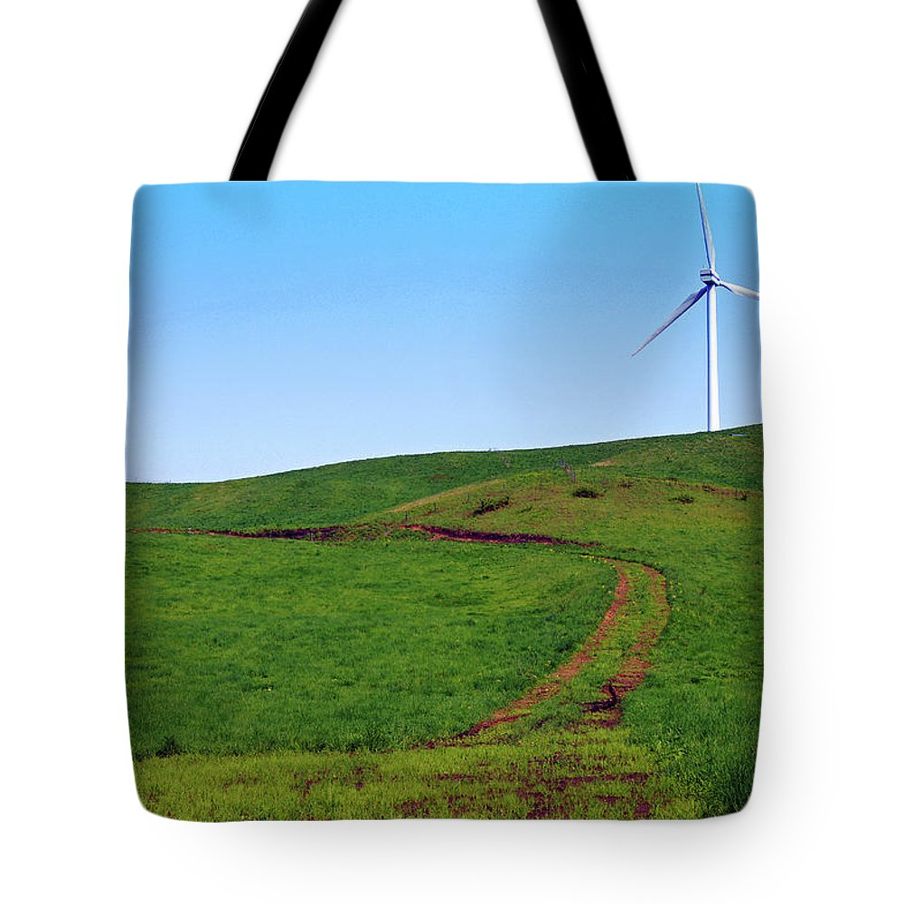 Environmental Conservation Tote Bag featuring the photograph Hill by The Landscape Of Regional Cities In Japan.