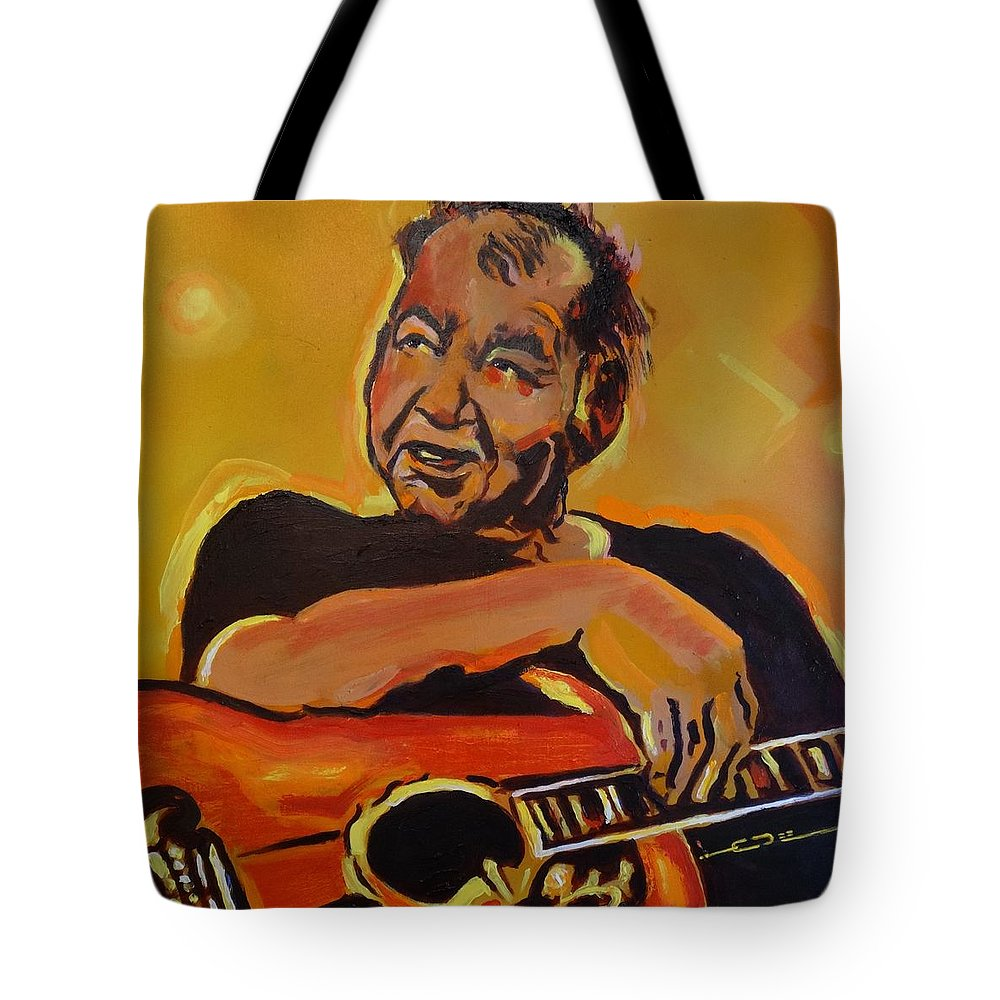 John Prine Tote Bag featuring the painting His Pumpkin's Little Daddy by Eric Dee