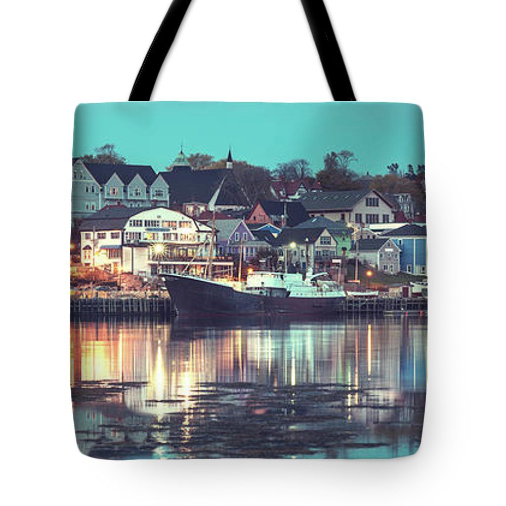 Water's Edge Tote Bag featuring the photograph Historic Lunenburg by Shaunl