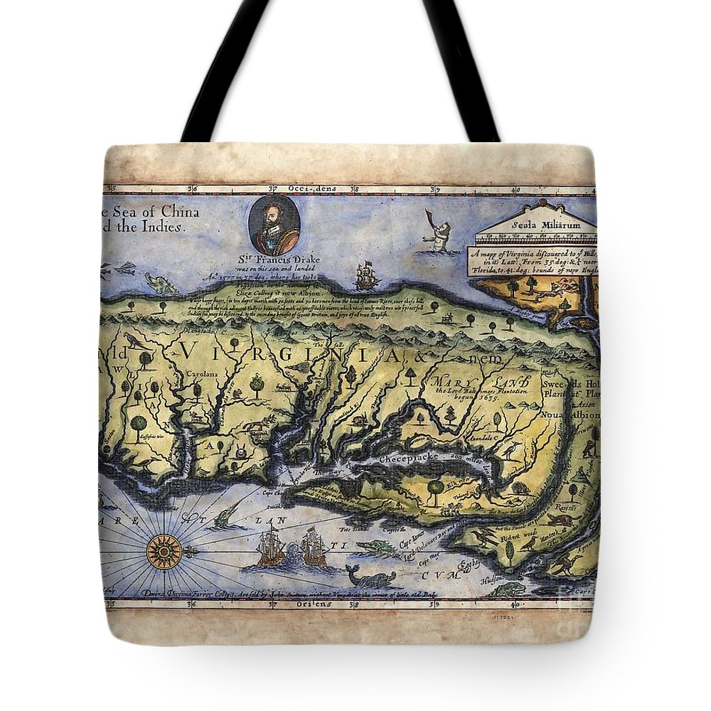 Historical Map Tote Bag featuring the painting Historical Map Hand Painted Italy Vintage by Lisa Middleton