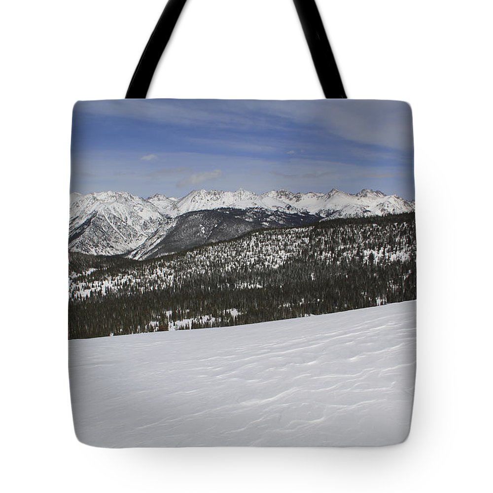 Scenics Tote Bag featuring the photograph Holy Cross Wilderness Area In Winter by John Kieffer
