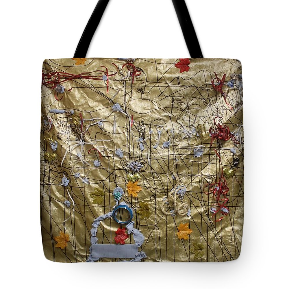 Jesus Tote Bag featuring the painting Holy Trinity And Bikira Maria Asia by Gloria Ssali