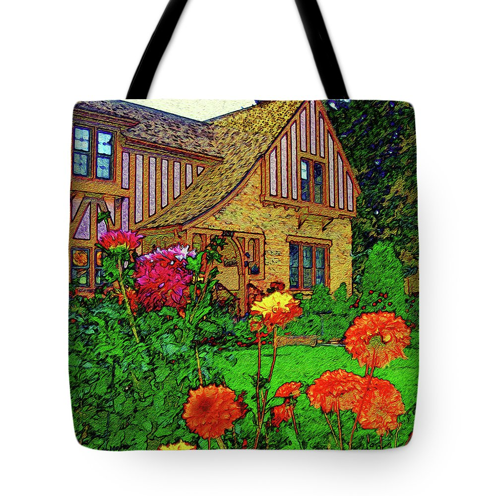 Impressionism Tote Bag featuring the painting Home And Garden by Bonnie Marie -