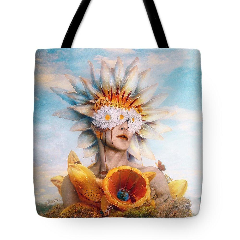 Transformation Digital Art Tote Bags