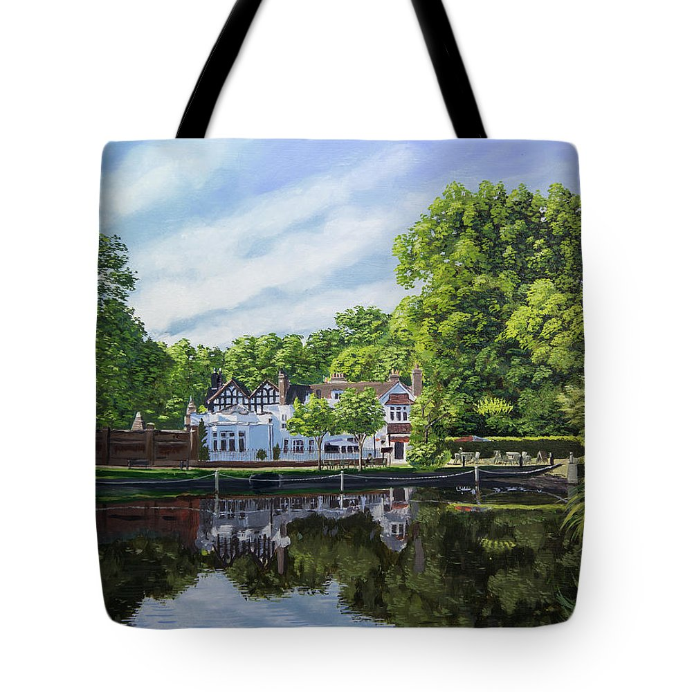 Honeywood Tote Bag featuring the painting Honeywood by Raymond Ore