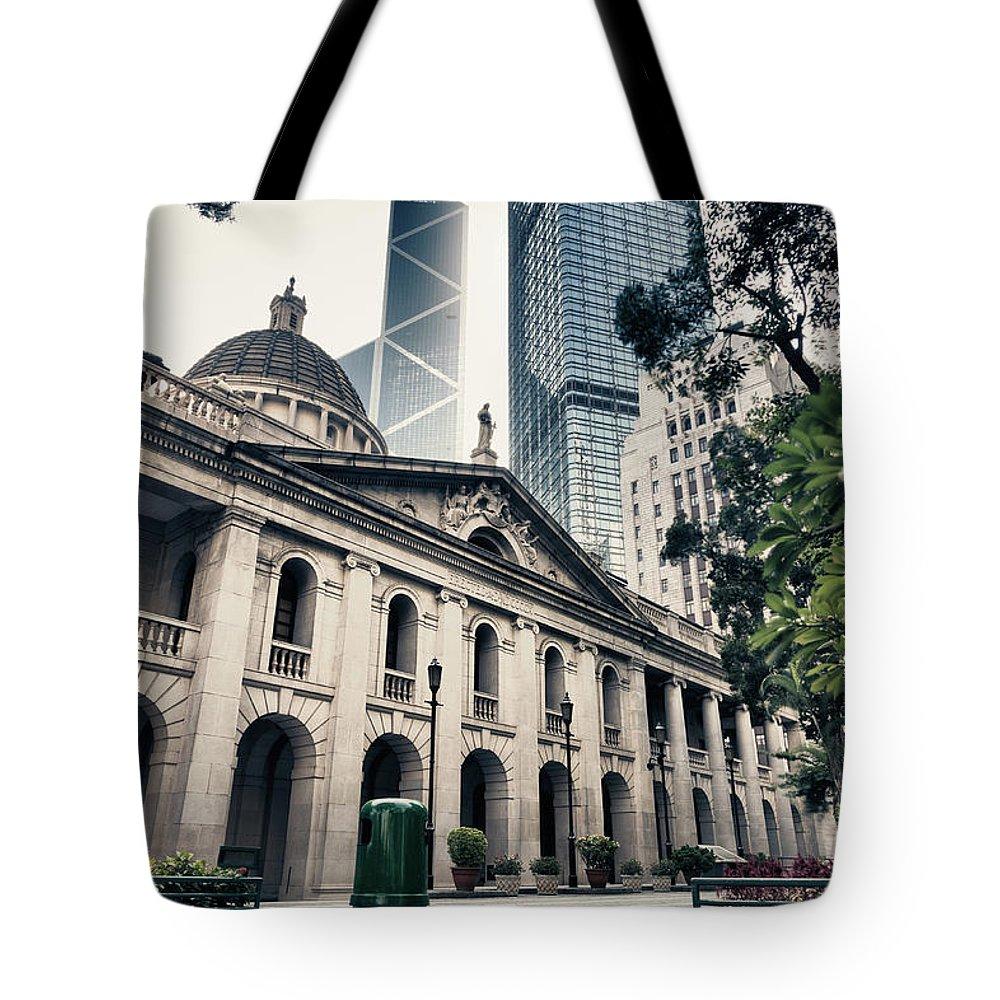 Chinese Culture Tote Bag featuring the photograph Hong Kong Legislative Council by Laoshi