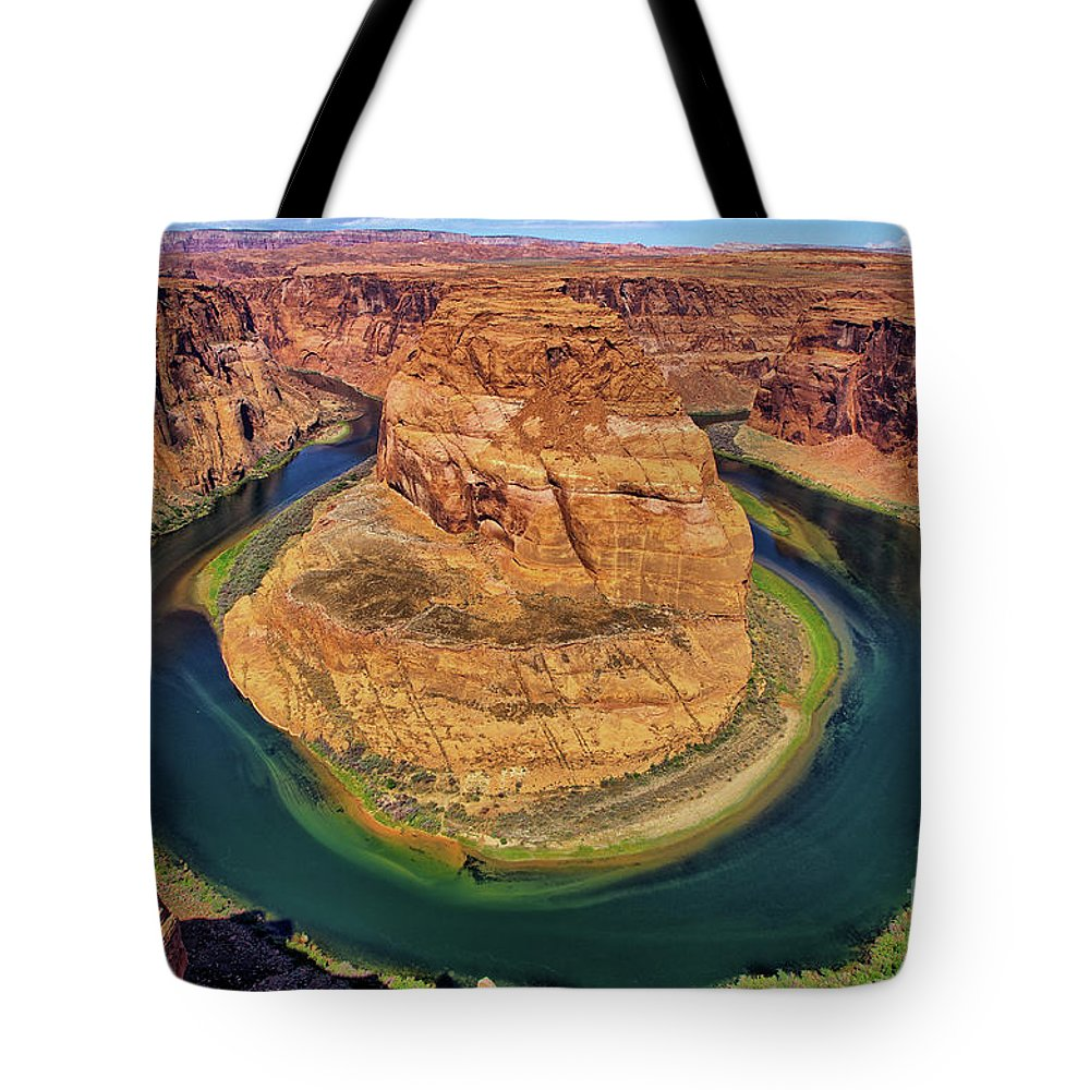 Arizona Tote Bag featuring the photograph Horseshoe Bend by Alex Morales