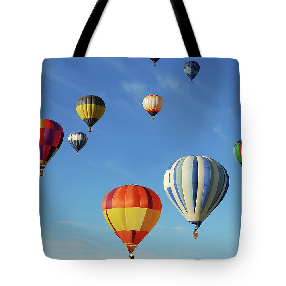 New Mexico Tote Bag featuring the photograph Hot Air Balloons by Sjlayne