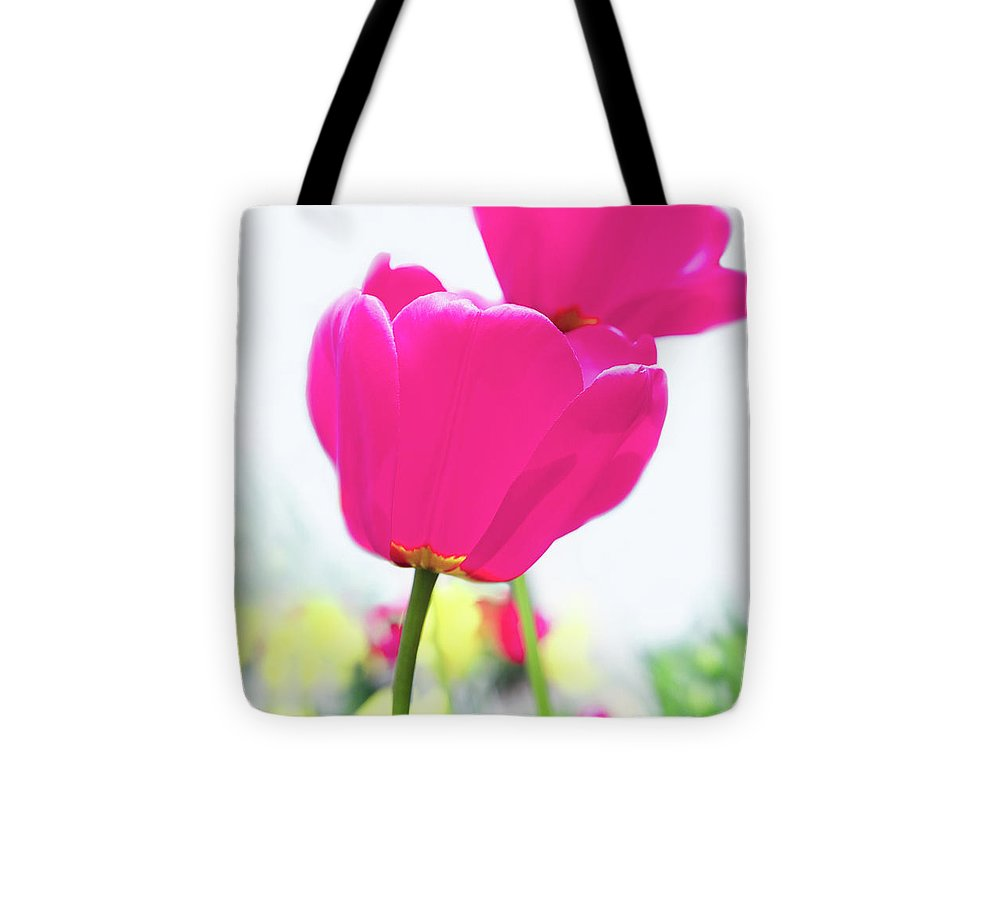 Hot Pink Tote Bag featuring the photograph Hot Pink Prelude by Emily Johnson