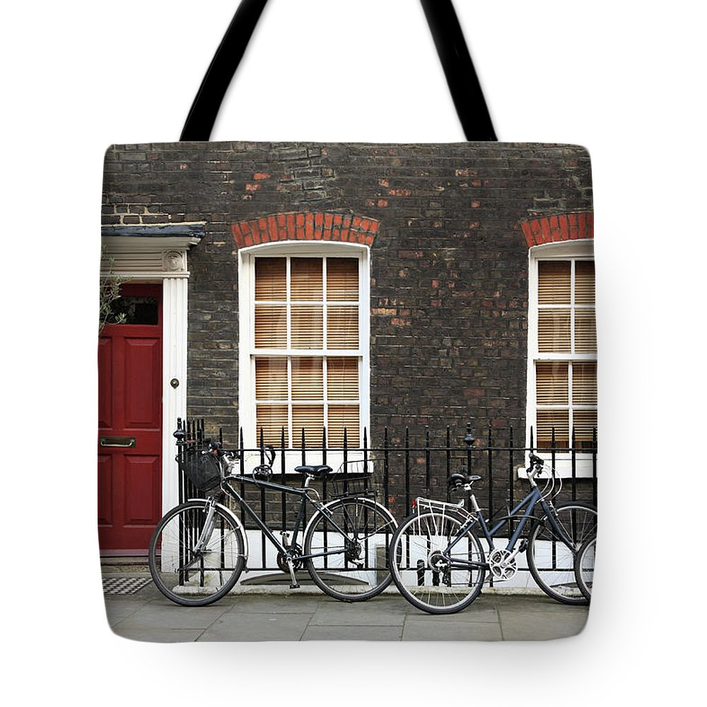 Row House Tote Bag featuring the photograph House In London by Imagestock
