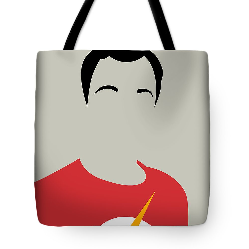 Great Collection Of Minimalist Movie Posters. Classic Movies Tote Bag featuring the digital art Sheldon Portrait by Naxart Studio