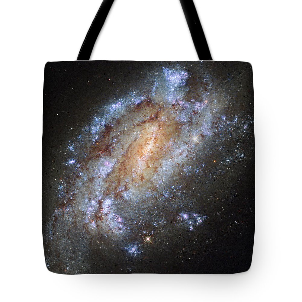 Hubbles Lonely Firework Display Tote Bag featuring the photograph Hubbles Lonely Firework Display by New Digital Museum