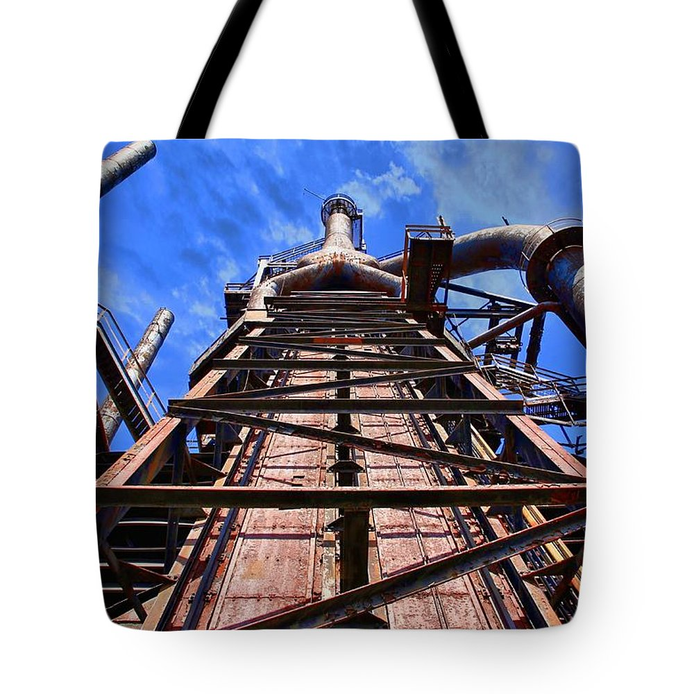 Rust Tote Bag featuring the photograph Hungry Beast by DJ Florek