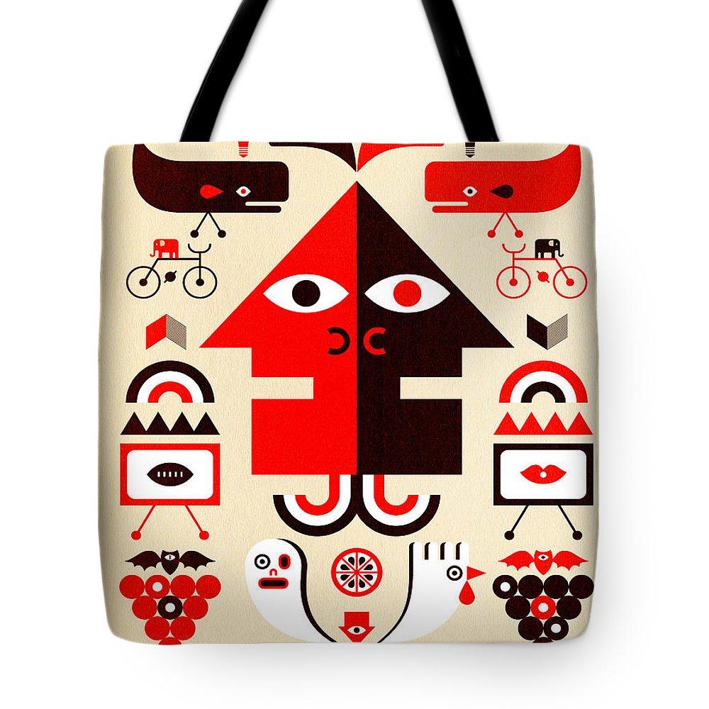 North Carolina Tote Bag featuring the digital art Hurricane Man by Scott Partridge
