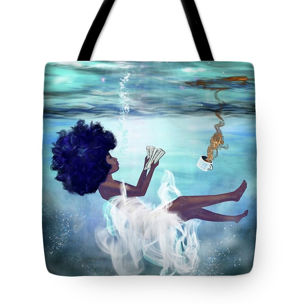 Bible Tote Bag featuring the painting I aint drowning by Artist RiA