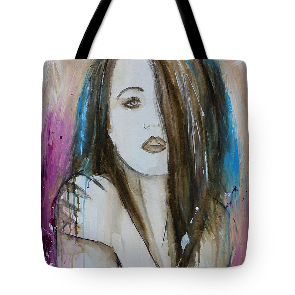 Tote Bag featuring the painting I Have Been Missing You by Maria Mitchell