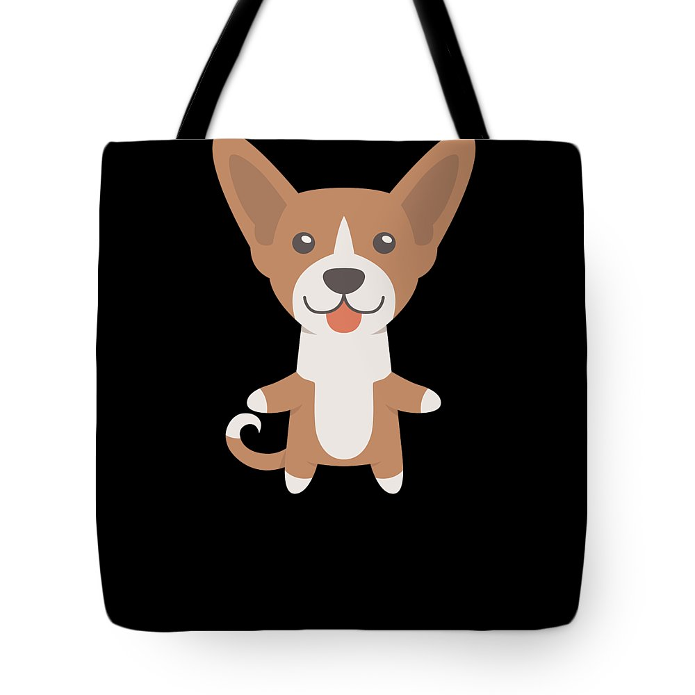Freaking-love Tote Bag featuring the digital art I Just Freaking Love Basenjis Cute Dog Design by DogBoo